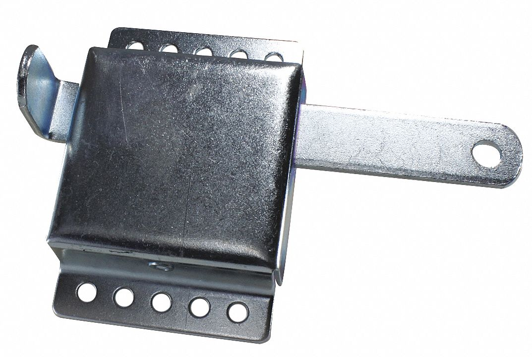 Steel Garage Door Locking Components,  Inside Slide Lock,  Steel,  Galvanized,  3 1/4 in Width (In.)