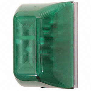 Alarm Mini Controller, Continuous Sound Pattern, 9 or 12VDC Voltage, Decibels: 105dB, Color: Green