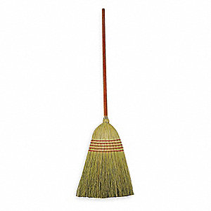 "Natural Corn Broom Head, 12-1/2"" Sweep Face"