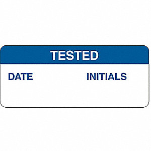 "Inspection Label, Self-Adhesive Polyester, Height: 5/8"" x Width: 1-1/2"", 364 PK"
