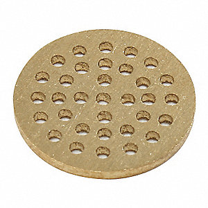 Perforated Brass Disc