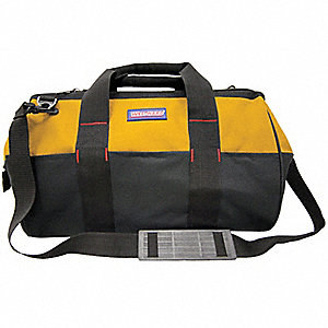 WIDE MOUTH TOOL BAG,22 PKT,YELLOW/B