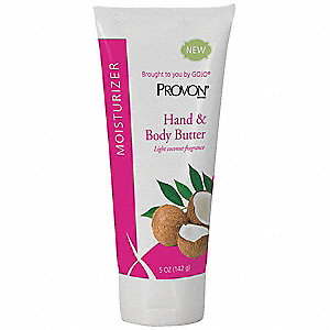 Hand and Body Butter, Vitamin Enriched, Aloe Formula, Coconut, 5 oz. Tube, EA 1