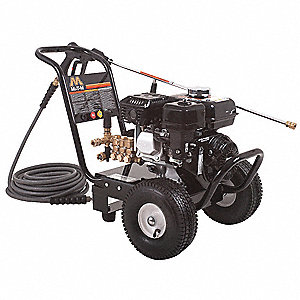 Heavy Duty (2800 to 3299 psi) Gas Cart Pressure Washer, Cold Water Type, 2.4 gpm, 3000 psi