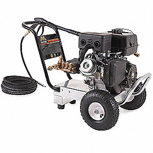 Industrial Duty (3300 psi and Greater) Gas Cart Pressure Washer, Cold Water Type, 3.4 gpm, 4000 psi