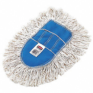 "Cotton, Synthetic Yarn Wedge Dust Mop, Length 4"", 1 EA"