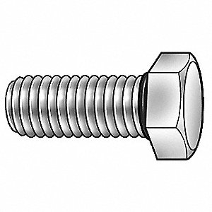 "18-8 (304) Hex Head Cap Screw 3/8""-16, 1-1/2"" Fastener Length, Plain Fastener Finish"