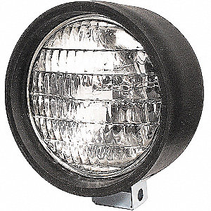 Work Lamp,Round,Clear