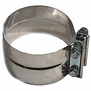 "Band Clamp 304 Stainless Steel Exhaust Clamp For Pipe Size 5""; PK1"