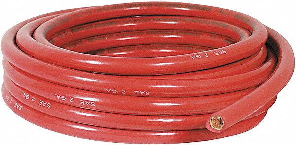 quick cable electrical grainger industrial supply 2 Gauge Wire pvc battery cable with 1 conductor s 2 awg wire size 60v max voltage red