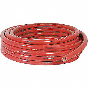 25 ft. PVC Battery Cable with 1 Conductor(s), 2 AWG Wire Size, 60V Max. Voltage&#x3b; Red
