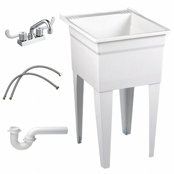 Fiat Products Floor Mount Laundry Tub Kit 20 1 8 Quot X 17 3