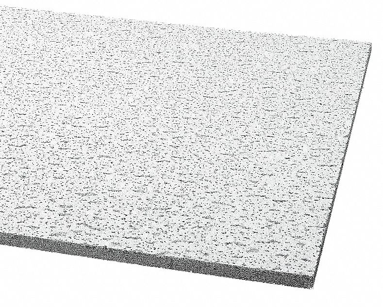 Ceiling Tile,  Width 24 in,  Length 48 in,  5/8 in Thickness,  Mineral Fiber,  PK 12