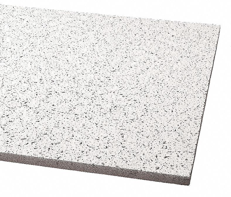 Ceiling Tile,  Width 24 in,  Length 24 in,  5/8 in Thickness,  Mineral Fiber,  PK 16