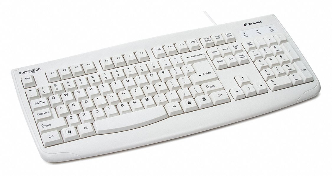 Corded Keyboard, White, USB