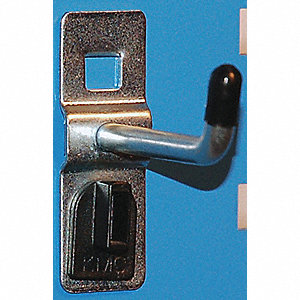 Steel Single Rod Toolboard Hook, Silver