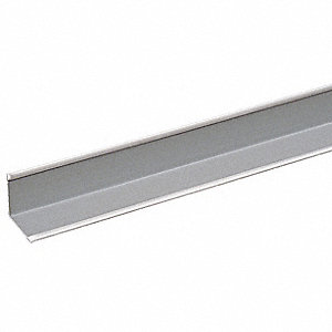 "Ceiling Tile Suspension System Wall Molding, 7/8"" x 7/8"" x 144"", White, 1EA"