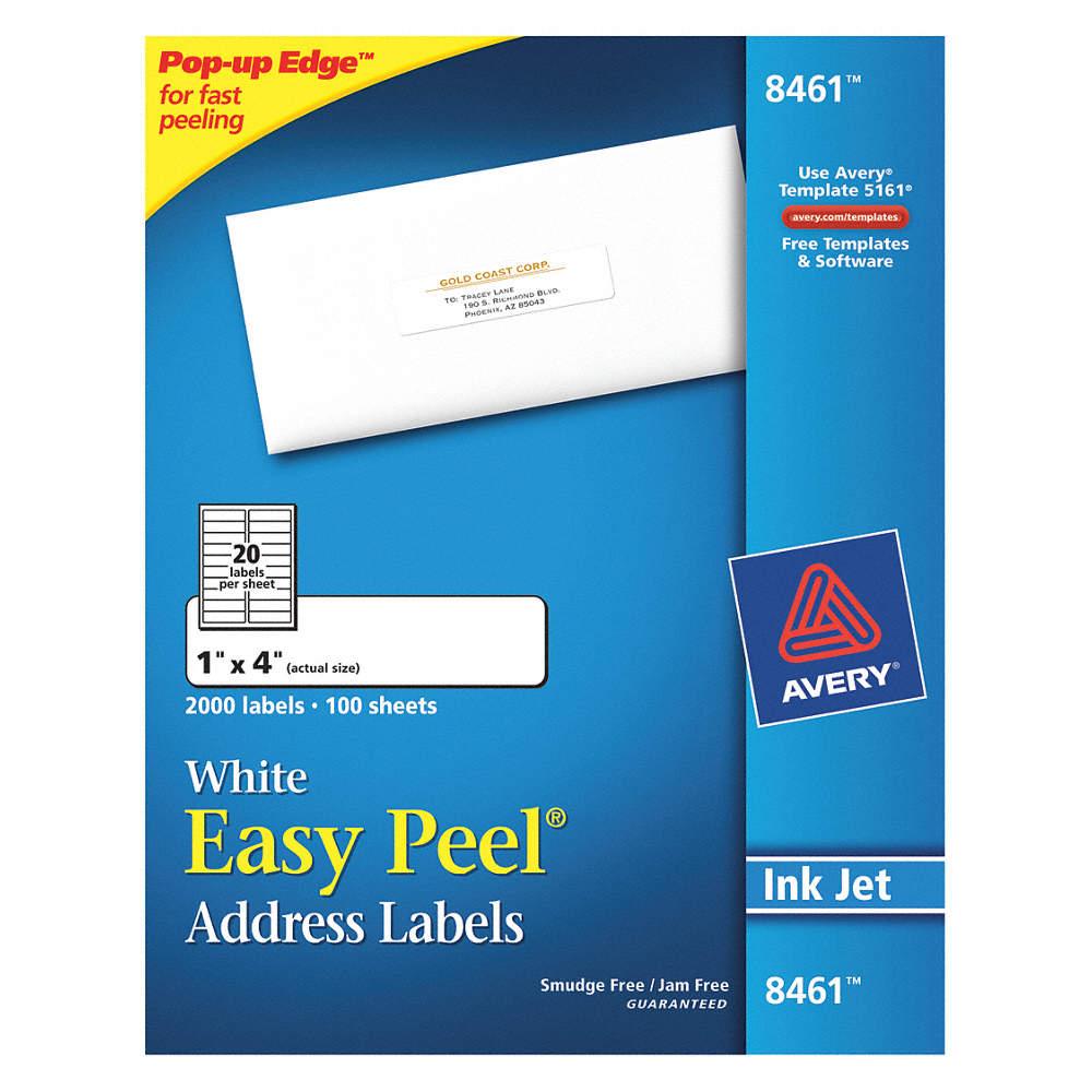 Avery Laser Label 5161 Address Pk500 5nhg05261 Grainger