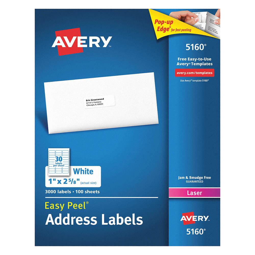 AVERY Etiqueta Láser,5160,Dirección,PQ100 - Etiquetas para ...