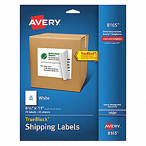"Label,11""Wx8-1/2""H,25 No. of Labels,PK25"
