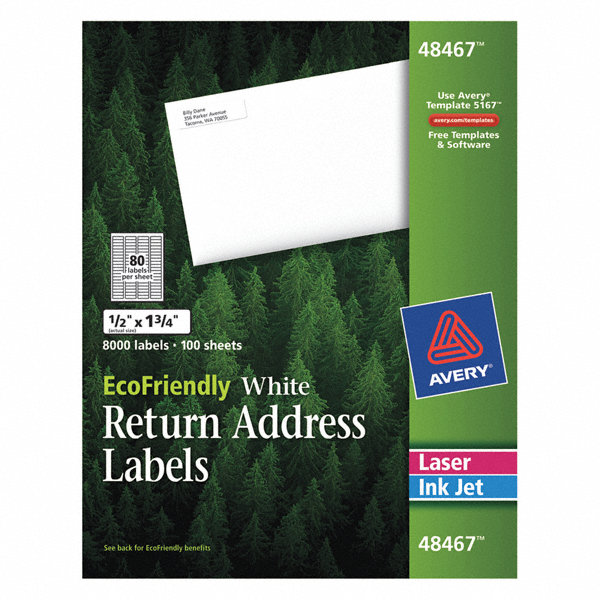 avery laser inkjet label template 48467 pk100 5nhk7 48467 grainger. Black Bedroom Furniture Sets. Home Design Ideas