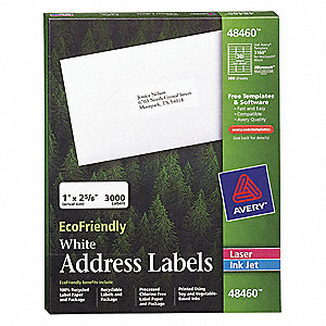 Laser/Inkjet Label,Template 48460,PK100