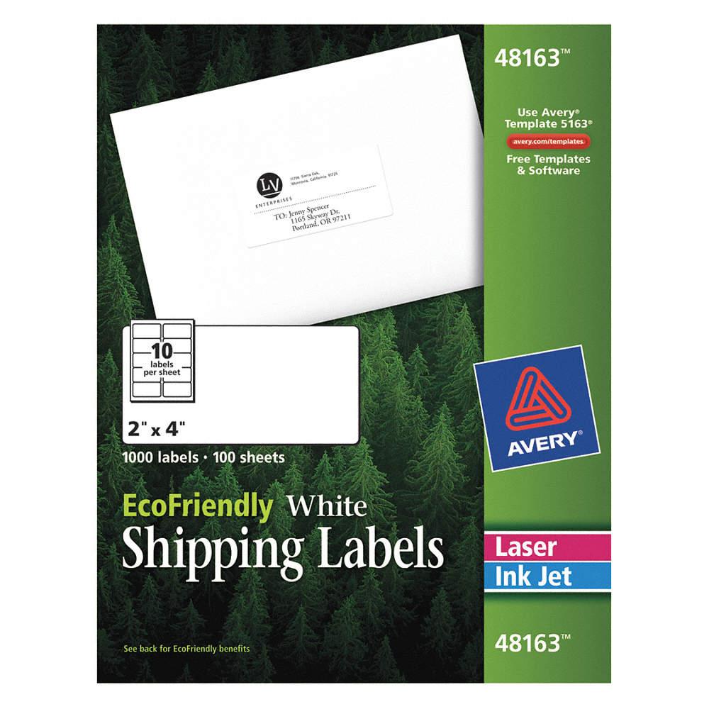 AVERY Etiquetas Laser/Iny,Blanco,2x4plg.,PQ100 - Etiquetas para ...