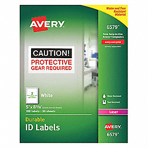 "Label, 8-1/8""Wx5""H, 100 No. of Labels, PK50"