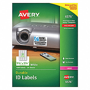 "Label, 1-3/4""W x 1-1/4""H, 1600 Labels, PK50"