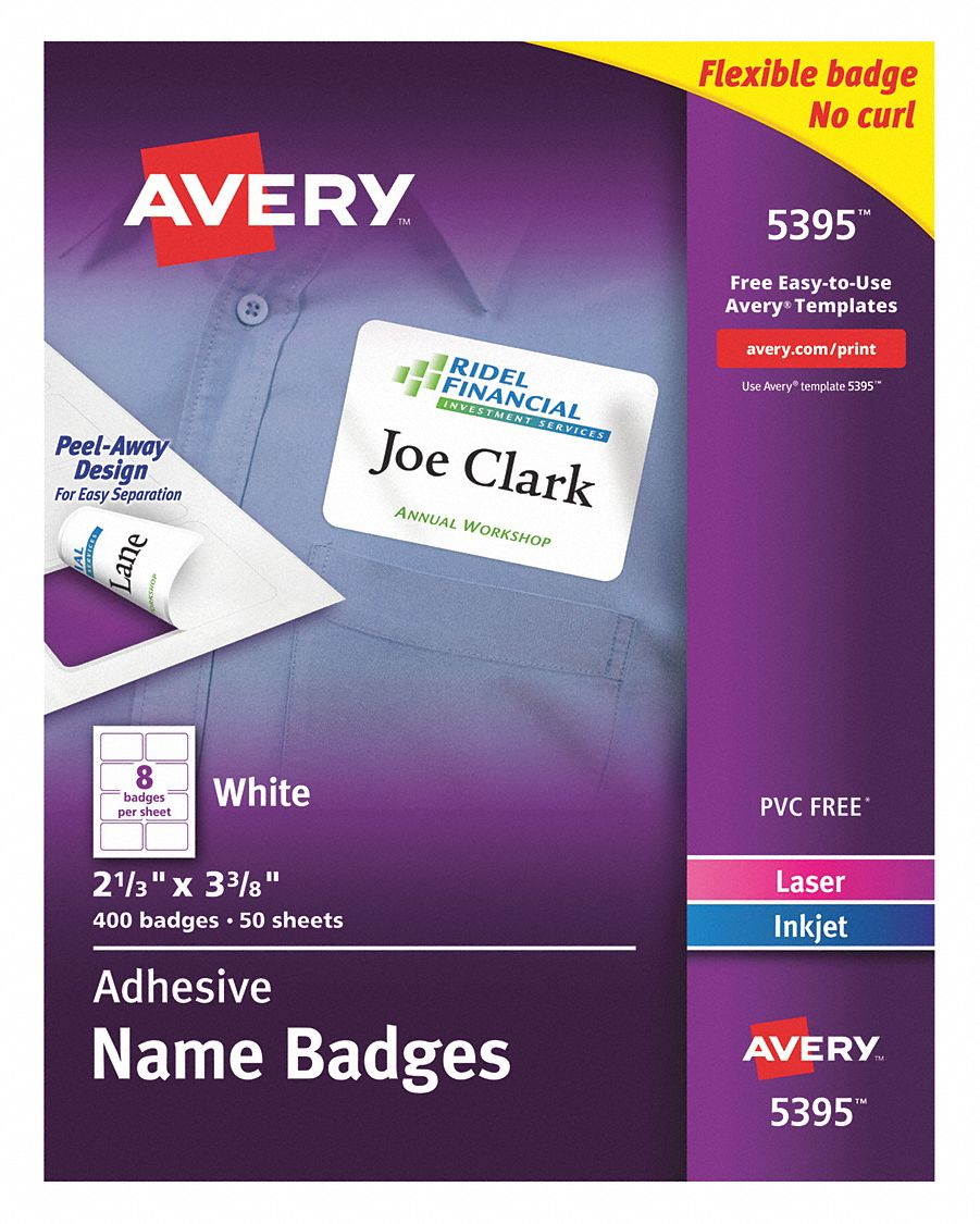 Badge usa for Avery name plate template