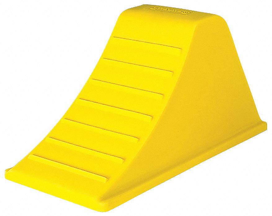 Wheel Chock Urethane Yellow 8-1//4 In H