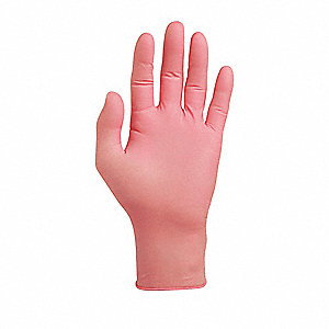 Disposable Gloves,Latex,L,Pink,PK100