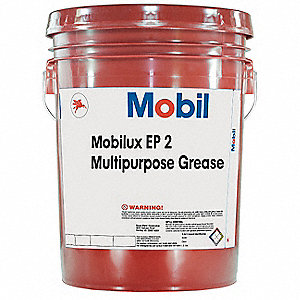 Mobilux® EP 2 Tan Lithium Industrial Grade Grease, 5 gal., NLGI Grade: 2