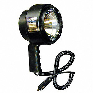 Halogen Spotlight, Plastic, Maximum Lumens Output: 2413, Black, 9.88""