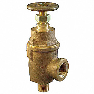 Bronze Adjustable Relief Valve, FNPT Inlet Type, MNPT Outlet Type