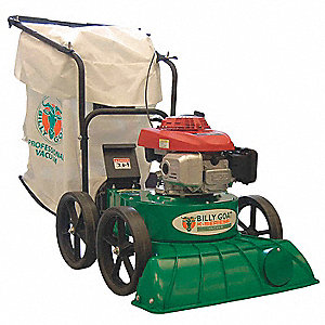 Outdoor Litter Vacuum, Drive Type: Push, Bag Volume: 40 gal., Cleaning Path: 27""