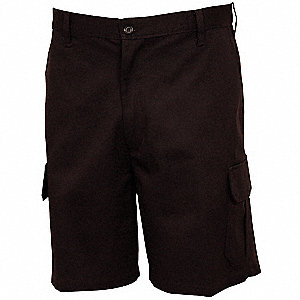 Men's Cargo Shorts, 36, Black