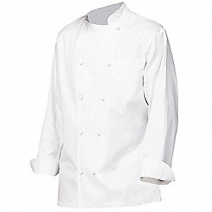 Grand Master Chef Coat with Contoured Structured Collar, White, 54