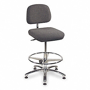 Chair,Adjustable 19 to 27In,Gray
