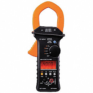 "Clamp On Digital Clamp Meter, -328° to 2502°F Temp. Range, 2"" Jaw Capacity, CAT IV 600V, CAT III 100"