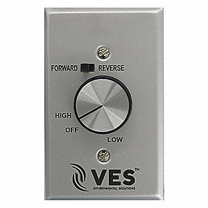 Fan Speed Control, Fwd, Rev, 120 V