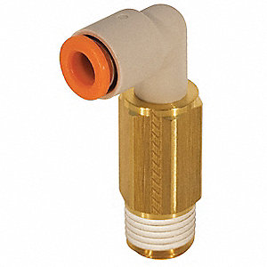 "Brass, Polybutylene Extended Male Elbow, 90°, 9/64"" Tube Size"