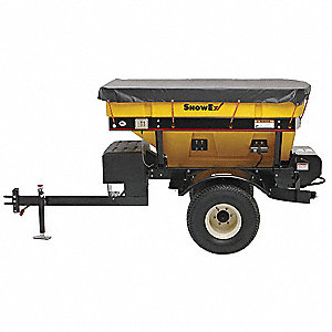 Tow Behind Spreader, 3500 lb. Capacity, High Output Drop Type, Knobby Pneumatic Wheel Type