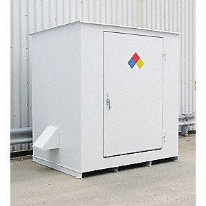 Storage Building, 6x55 Gal. Cap,White