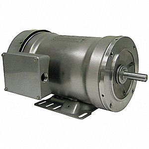1-1/2 HP Washdown Motor,3-Phase,3450 Nameplate RPM,208-230/460 Voltage,Frame 56C