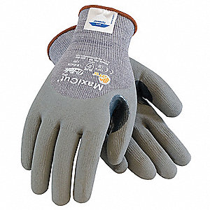 Nitrile Cut Resistant Gloves, ANSI/ISEA Cut Level 5, Dyneema® Lining, Gray, M, PR 1