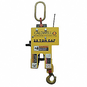 "Radio Controlled Release Hook, 31-5/32"", 2.5 ton, Opening Height Above Lift Arm 1-3/4"""