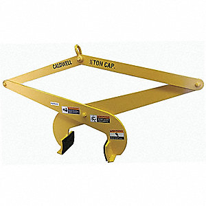 "Slab Tong, Polyurethane, 1500 lb., Load Width 10"" to 14"", Headroom 28.6"" to 41.2"""