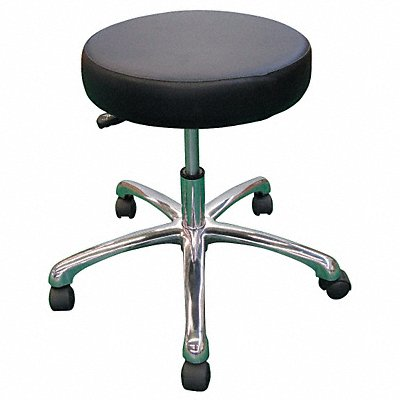 5NWF9 - Round Pneumatic Stool Black 15 to 20