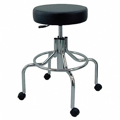 5NWG1 - Round Pneumatic Stool Black 27 to 34